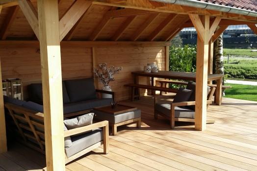 Afwerkingsmogelijkheden houten terrasoverkapping