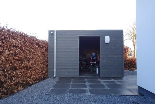 Open of dicht model houten fietsenstalling?