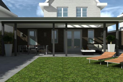 Kies voor een overkapping met een plat dak of ga voor een zadeldak