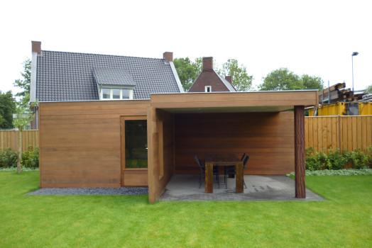 Tuinhuis met veranda mogelijk in elke denkbare stijl in Heesch