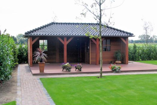 Diverse opties voor uw houten veranda van Douglas hout