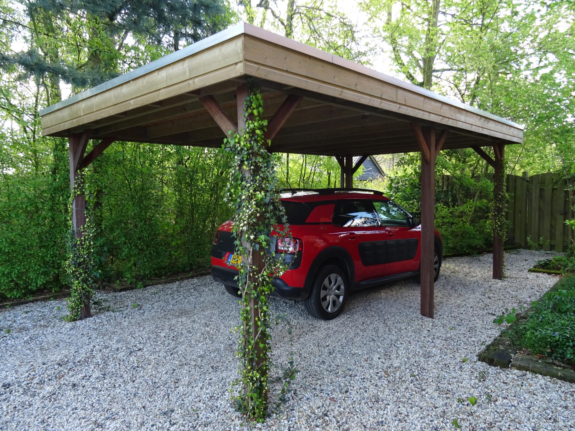 Carports - houten carport op maat - Van der Heijden