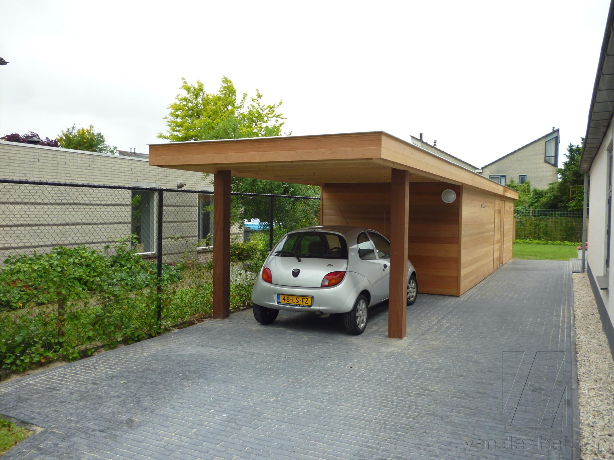 Houten carport op maat - Van der Heijden