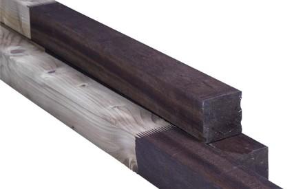 Combi - paal 140x140mm, geschaafd, geimpregneerd / hardhout