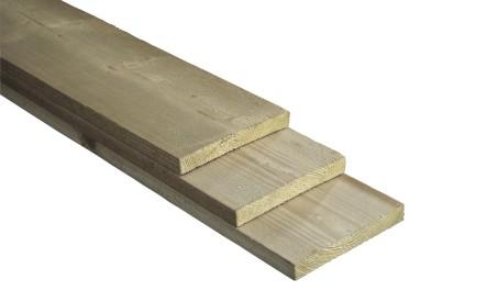 Plank 18x150mm, bezaagd, geimpregneerd vuren