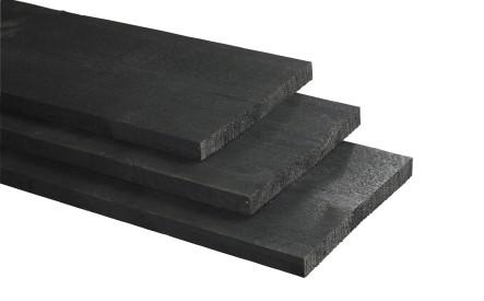 Plank 25x275mm, Rustiek zwart