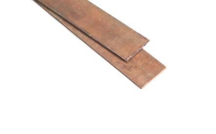 Buigstrip 6x100mm, ruw, hardhout