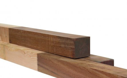 Combi-paal 1454x145mm, geschaafd, Douglas / hardhout