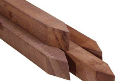 Piket 40x40mm, ruw, hardhout