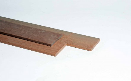 Plank 16x140mm, geschaafd, hardhout