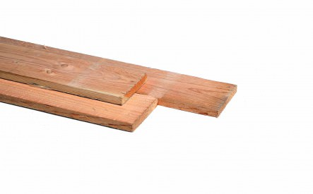 Plank 22x200mm, bezaagd, Douglas