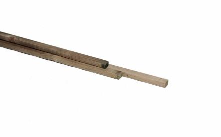Panlat 25x38mm, ruw, geimpregneerd vuren