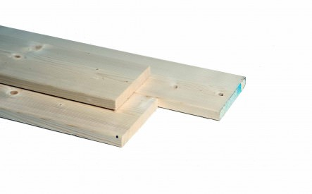 Plank 28x95mm, geschaafd,  vuren