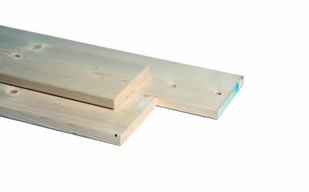 Plank 28x195mm, geschaafd,  vuren
