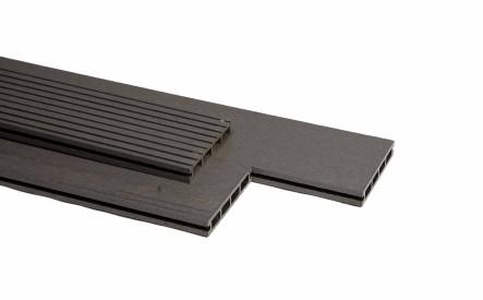 Dekdeel comoposiet Duowood Lava, 25x146mm, 1 zijde geprofileerd
