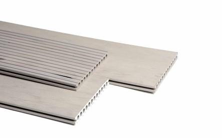 Dekdeel comoposiet Duowood Rivièra, 25x250mm, 1 zijde geprofileerd