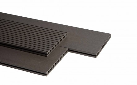 Dekdeel comoposiet Duowood Lava, 25x250mm, 1 zijde geprofileerd